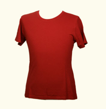 Red Tshirt Womens Hemp