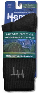 Hemp Socks Black